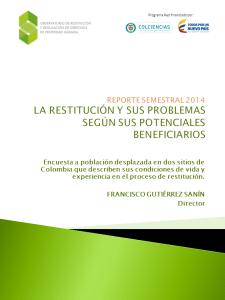 Reporte semestral 2014